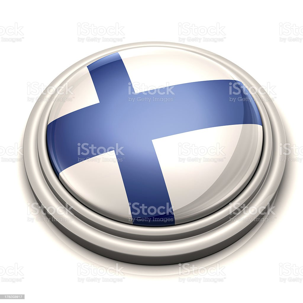 Flag Button - Finland royalty-free stock photo