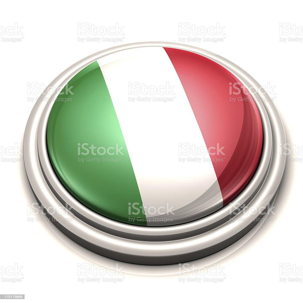 Flag Button - Italy royalty-free stock photo