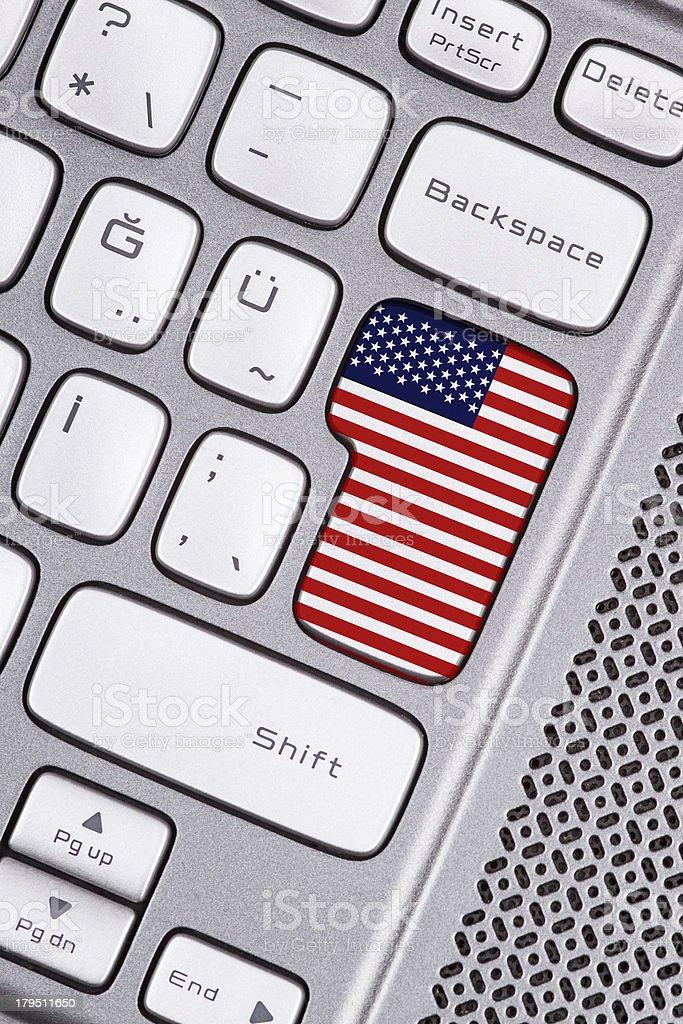 USA flag button royalty-free stock photo