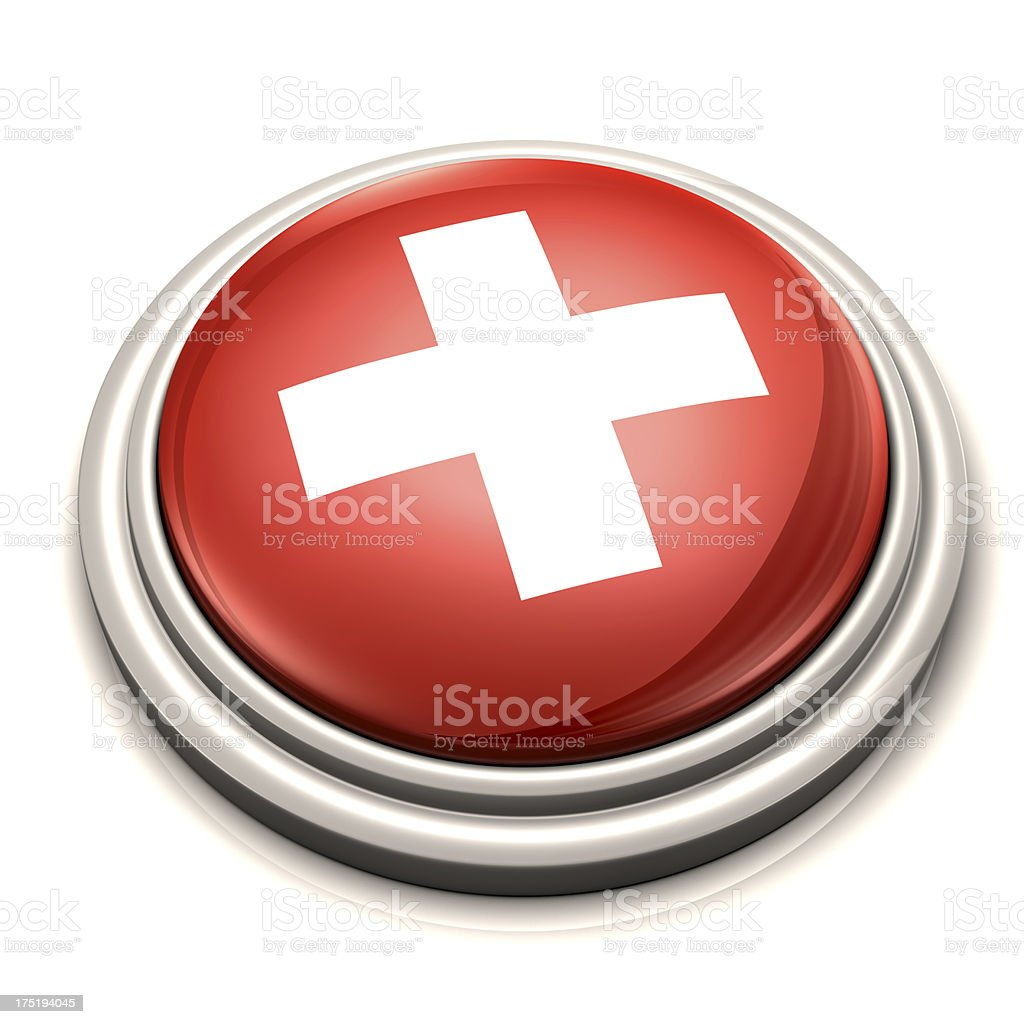 Flag Button - Switzerland royalty-free stock photo