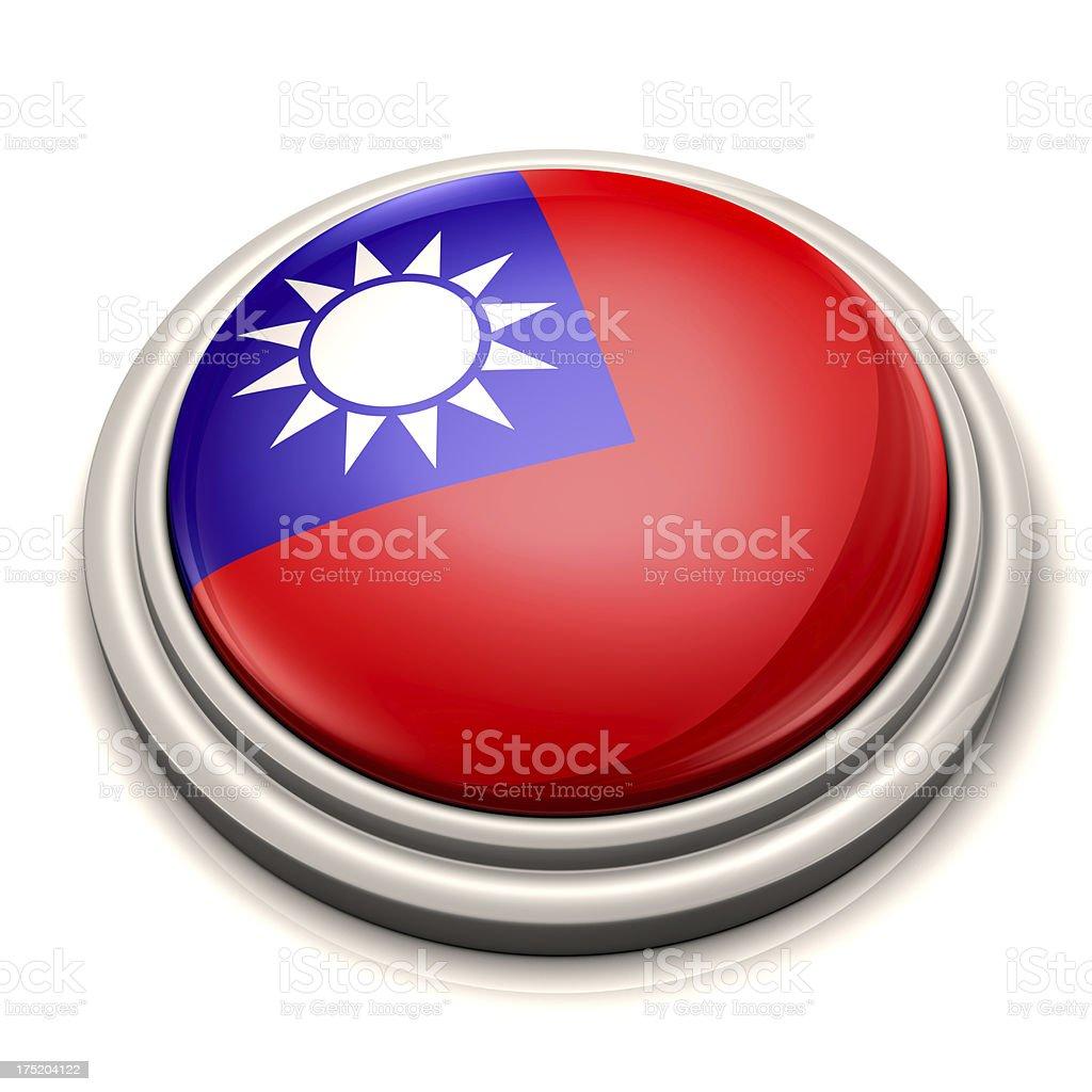 Flag Button - Taiwan royalty-free stock photo