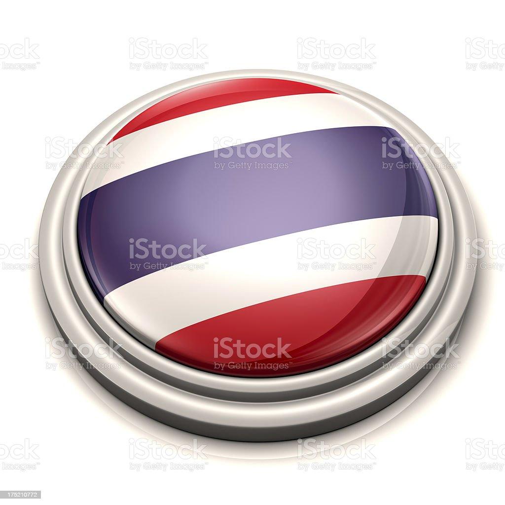 Flag Button - Thailand royalty-free stock photo