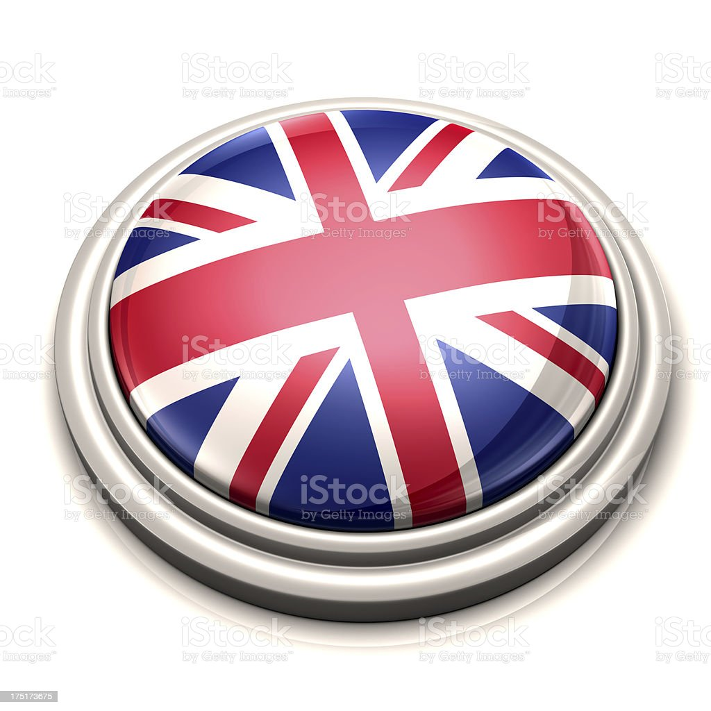 Flag Button - United Kingdom royalty-free stock photo