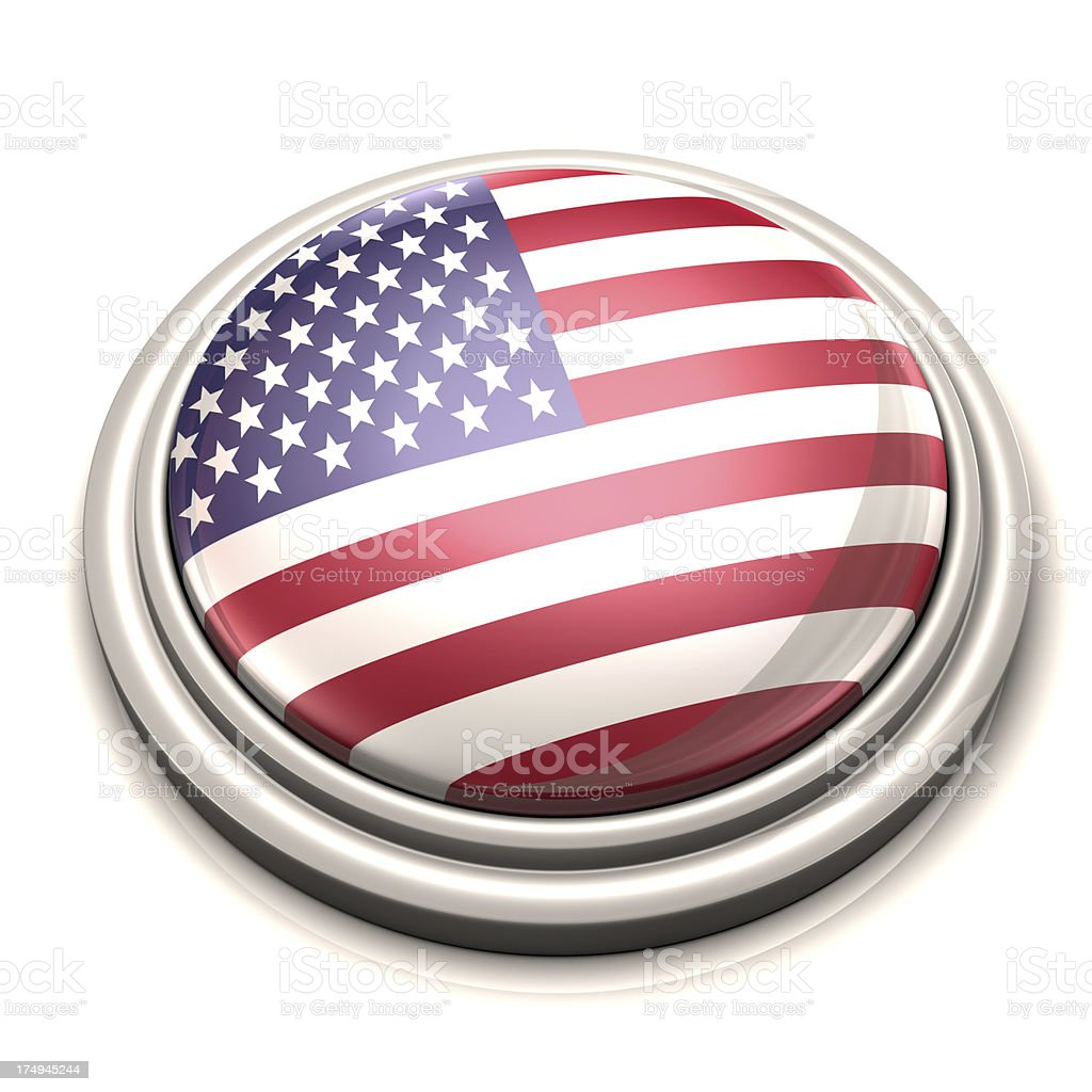 Flag Button - United States of America royalty-free stock photo