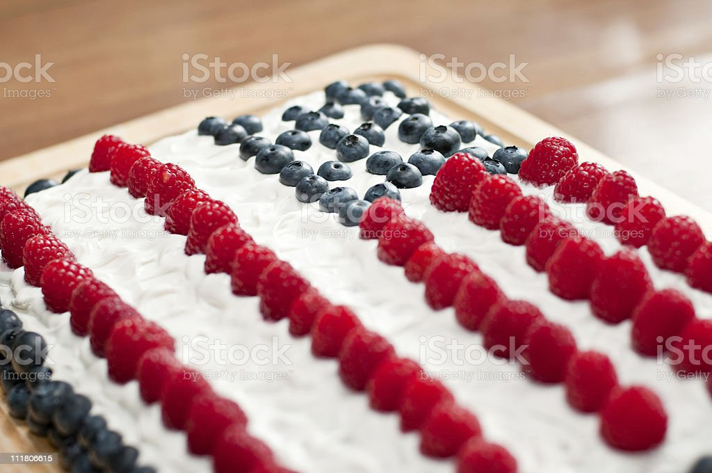 USA Flag Cake royalty-free stock photo