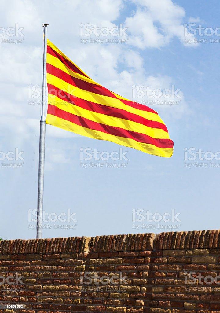 flag catalan stock photo