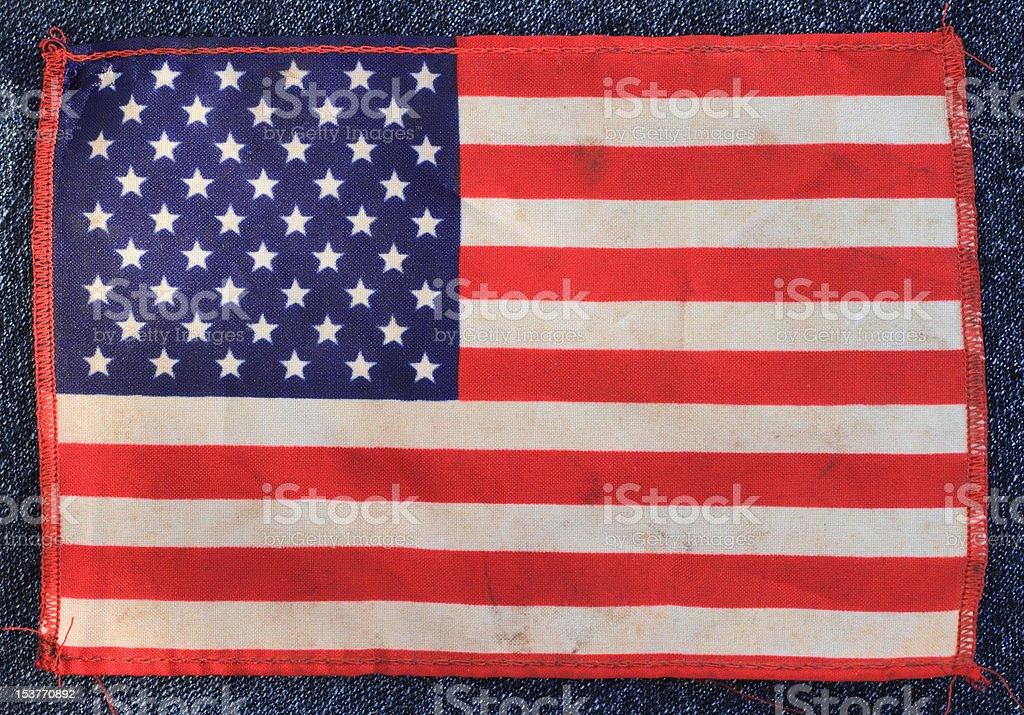 USA Flag denim royalty-free stock photo