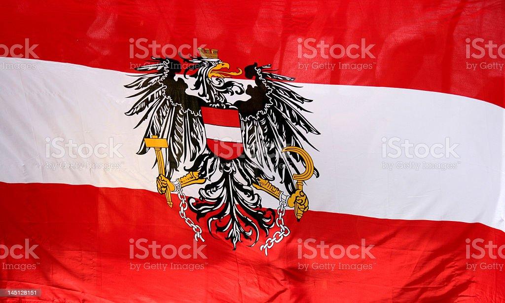 flag ensing austria royalty-free stock photo