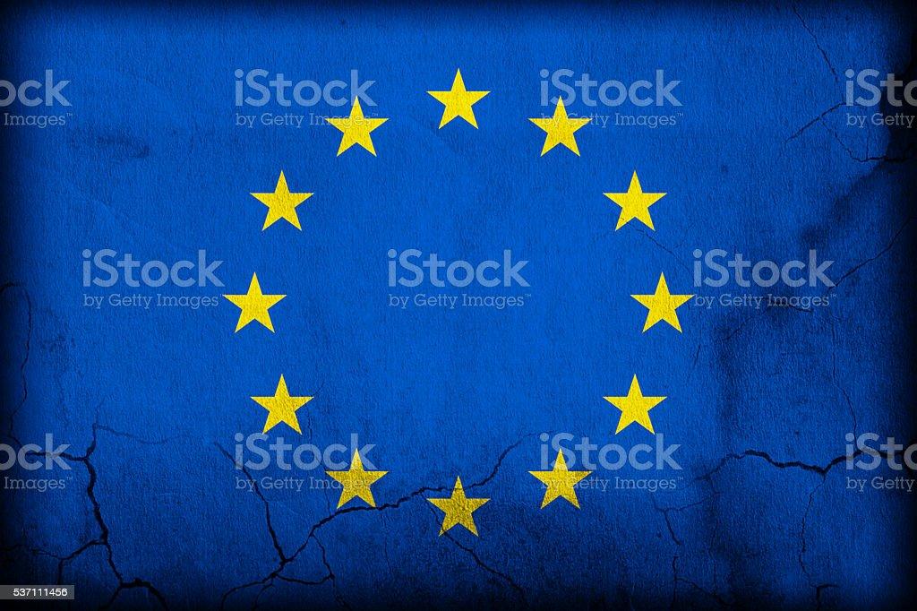 Flag - EU - European Union stock photo