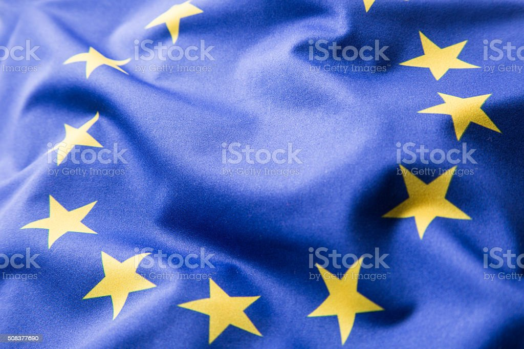 EU Flag. Euro Flag. Flag of European Union stock photo
