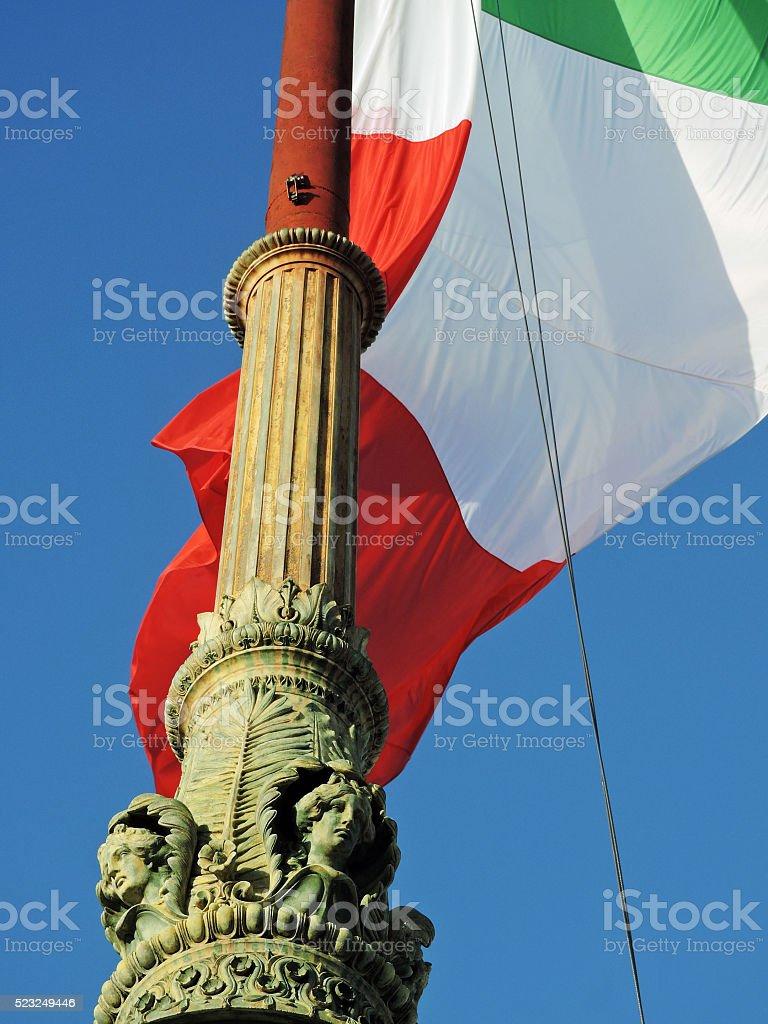 Flag Flagpole Rome Lazio Italy stock photo