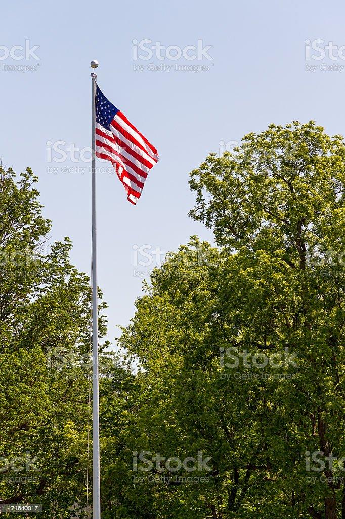 Bandiera USA volare da Palo Alto foto stock royalty-free