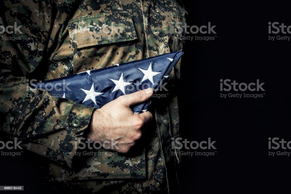 flag fold old glory stock photo