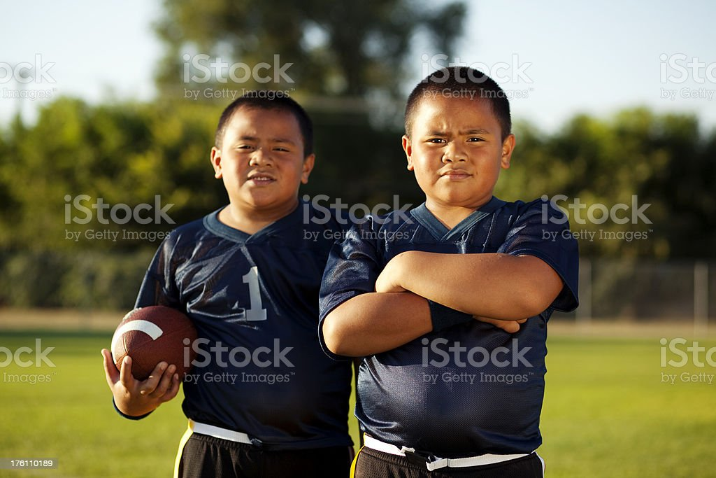 Flag Football Brothers stock photo