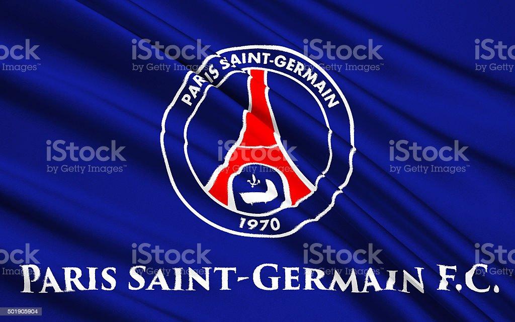 Flag football club Paris Saint-Germain, France stock photo