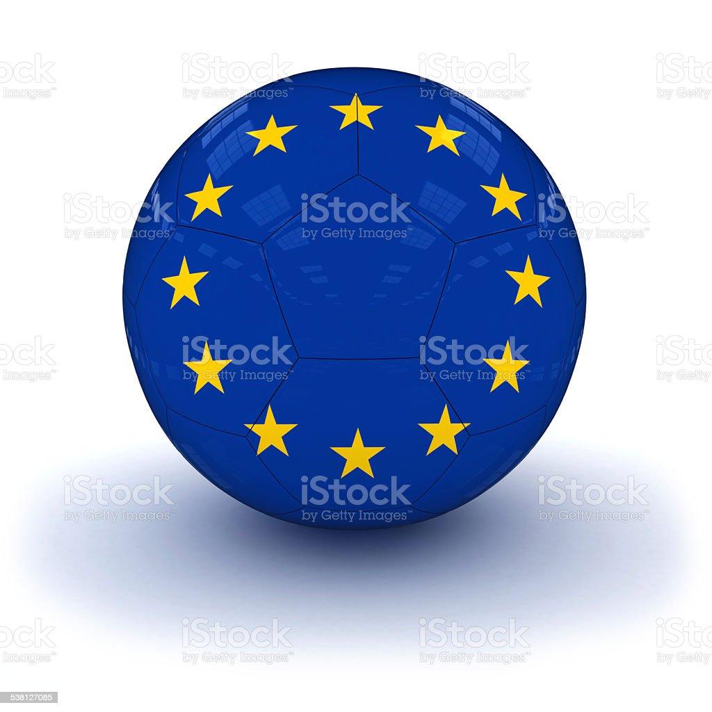 EU Flag Football stock photo