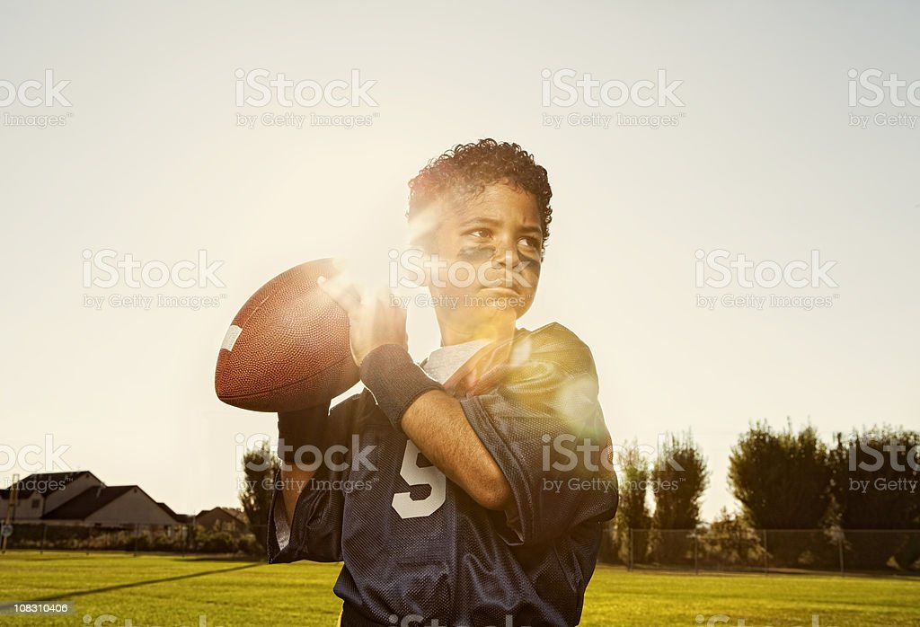 Flag Football Quarterback stock photo