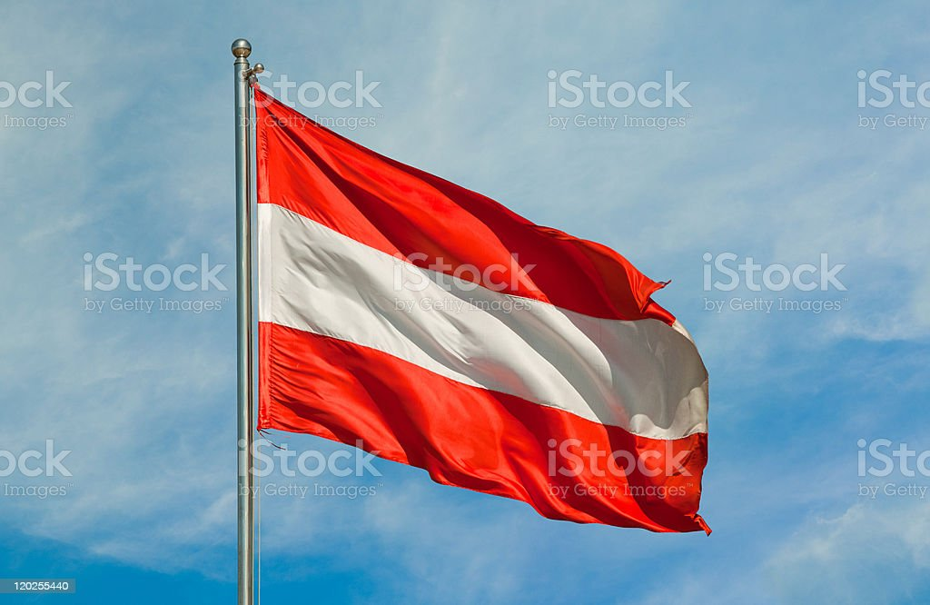 flag from austria stock photo