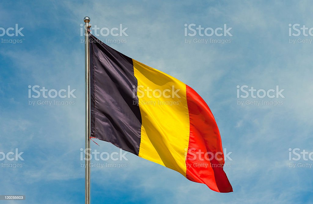 flag from belgium stock photo