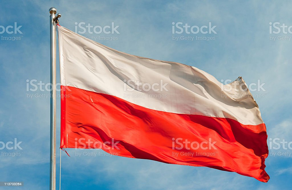 flag from poland stock photo