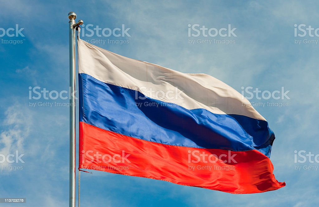 flag from russia stock photo