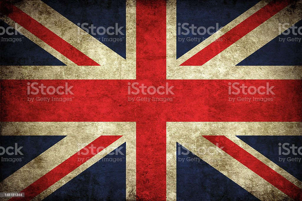 UK flag - Great Britain royalty-free stock photo