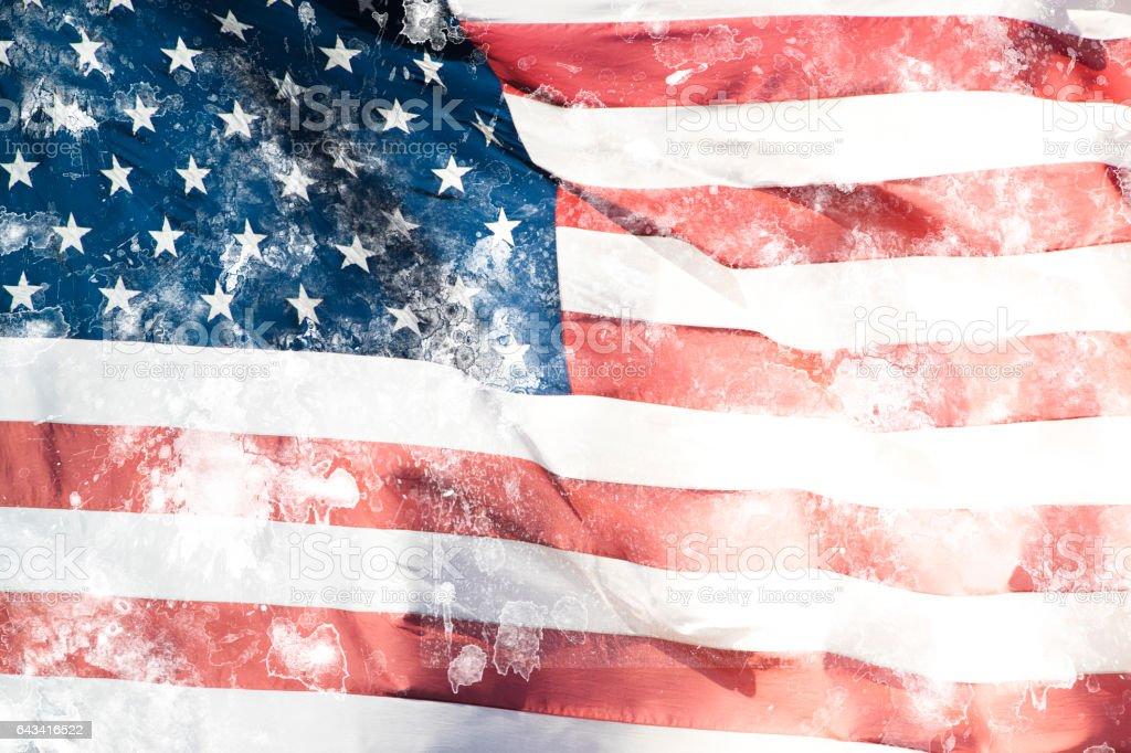 USA Flag Grunge Effect stock photo