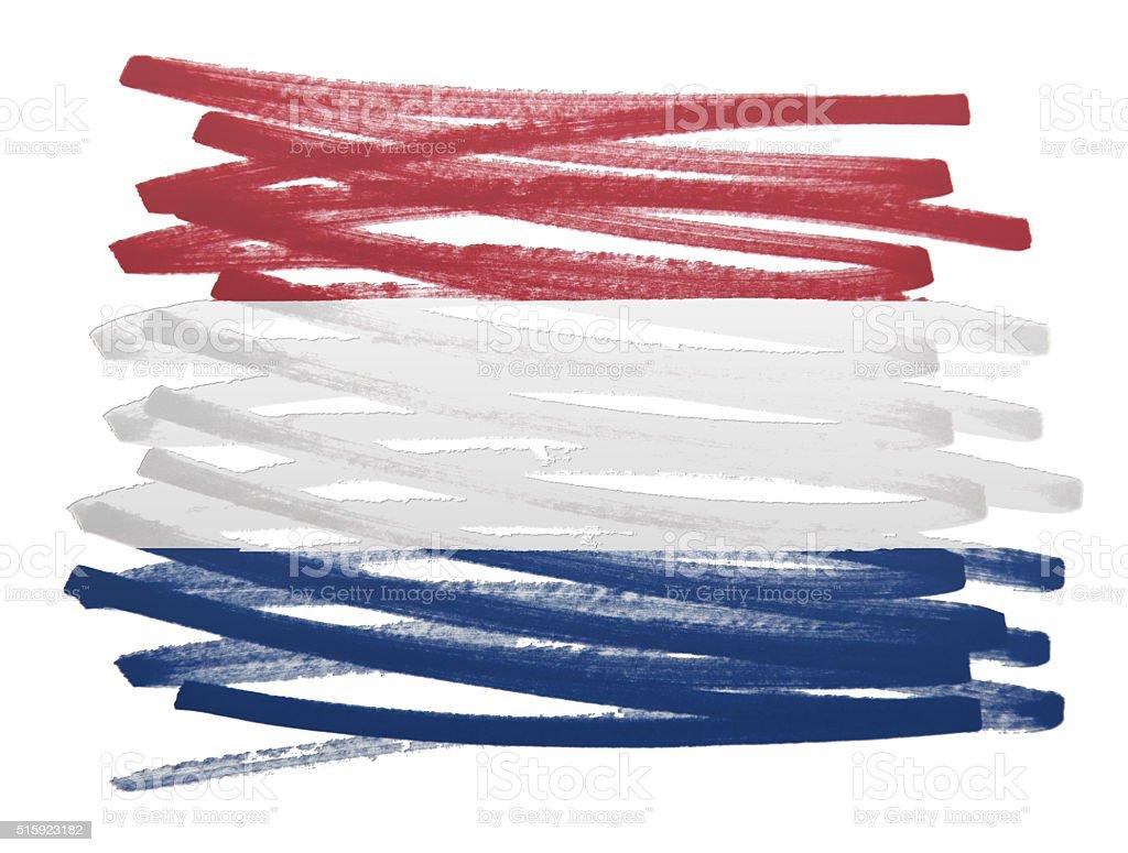 Flag illustration - Netherlands stock photo