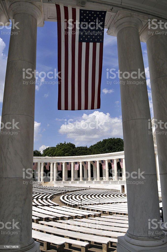 U.S. flag in Arlington royalty-free stock photo