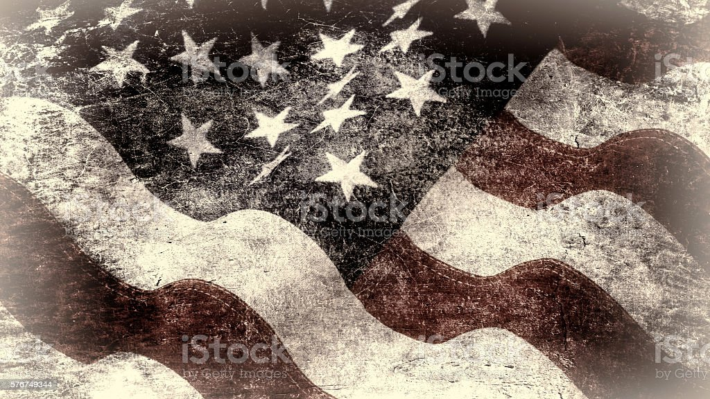 USA flag in grunge style stock photo