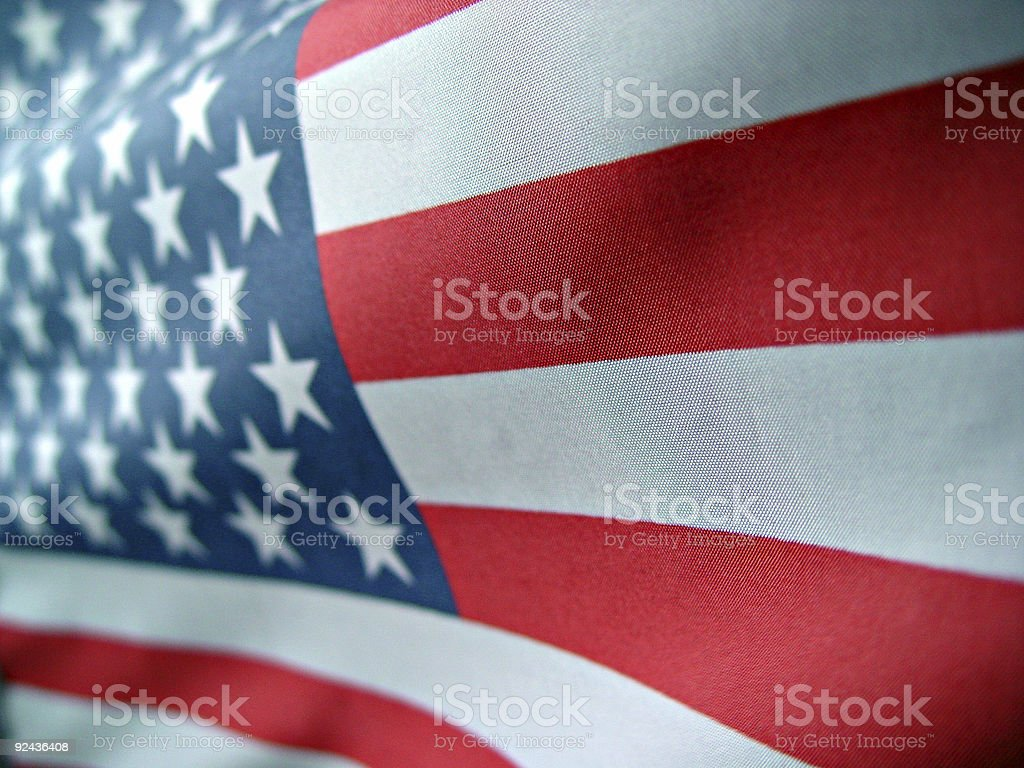 Flag in Perspective royalty-free stock photo