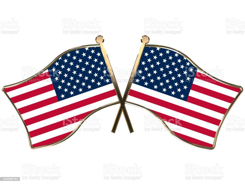 USA flag insignia stock photo