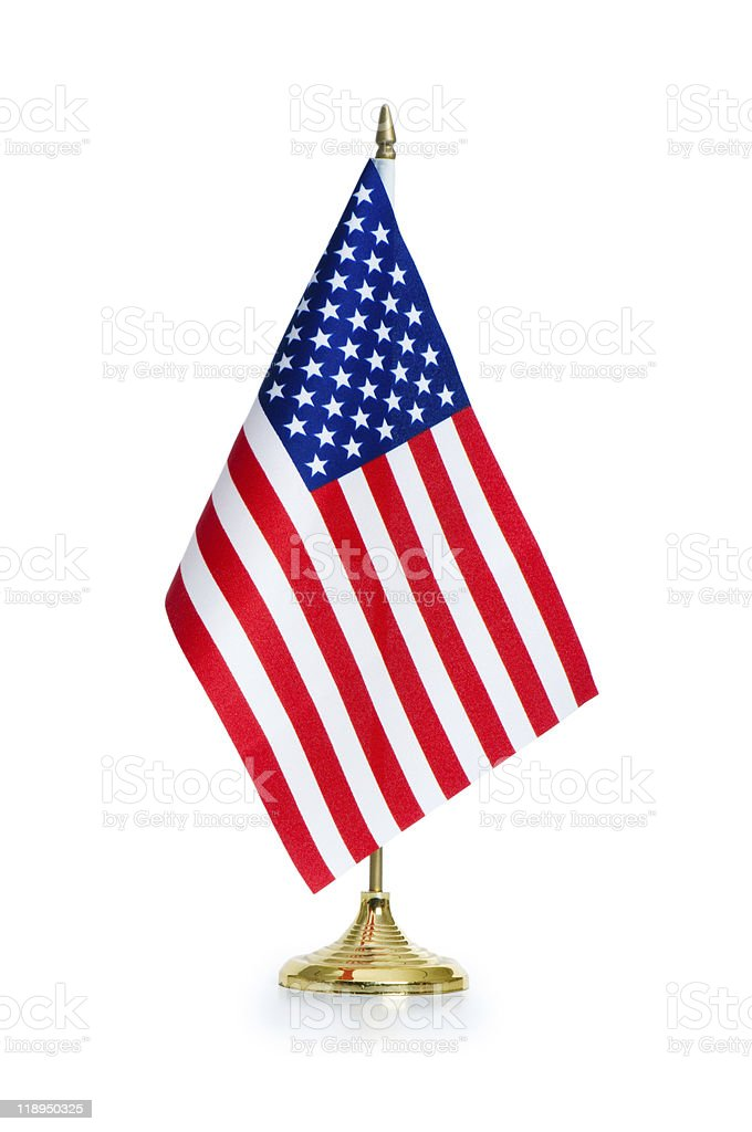 USA flag isolated on the white background stock photo