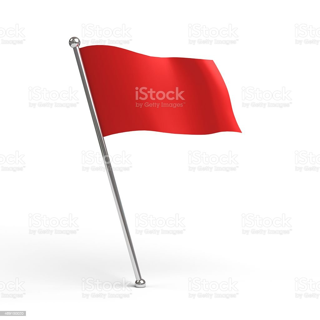 flag isolated stock photo