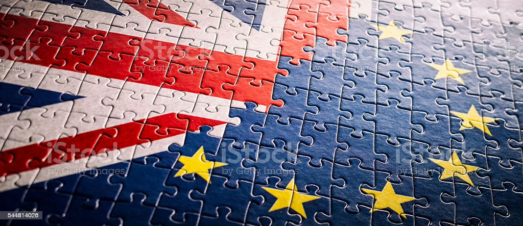 UK EU Flag Jigsaw Puzzle - XXXXL Backgrounds European Undion stock photo