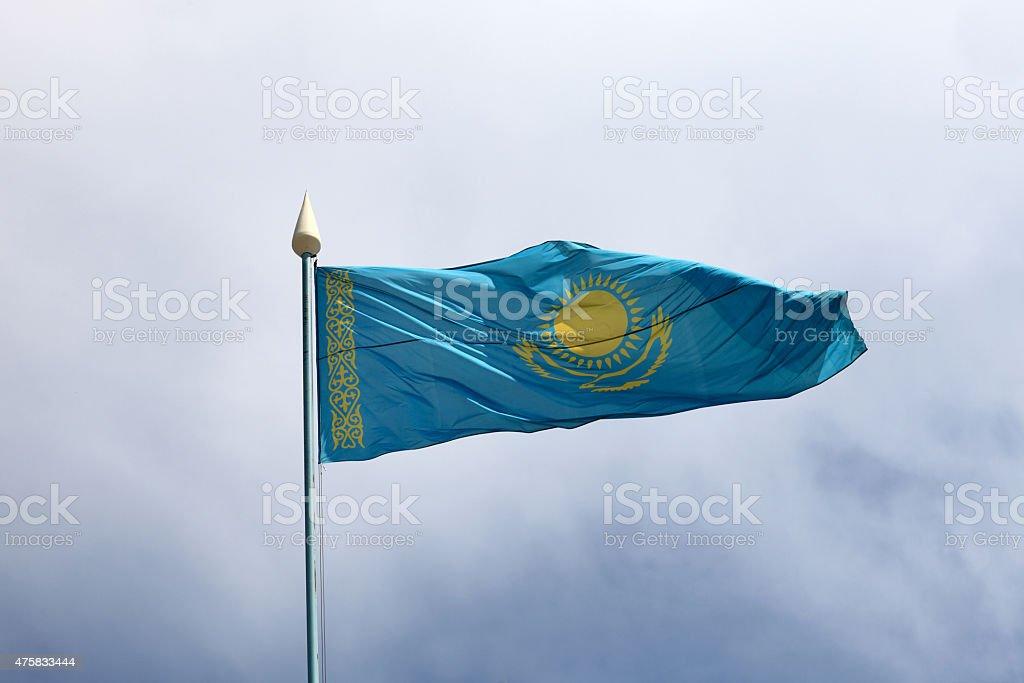 Flag Kazakhstan stock photo