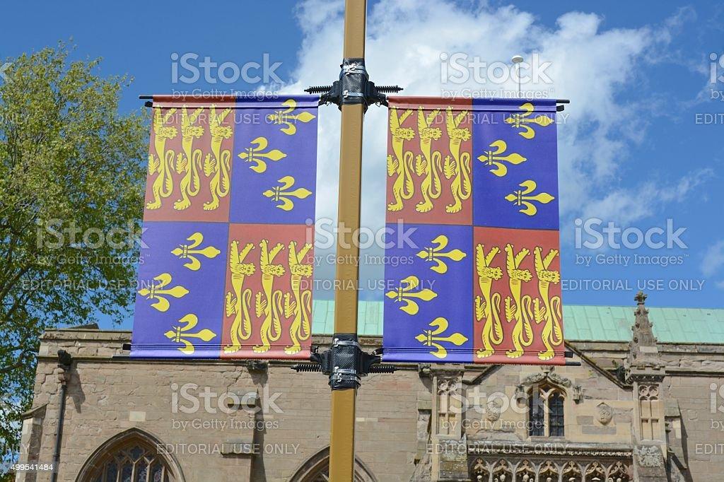 Flag King Richard III stock photo