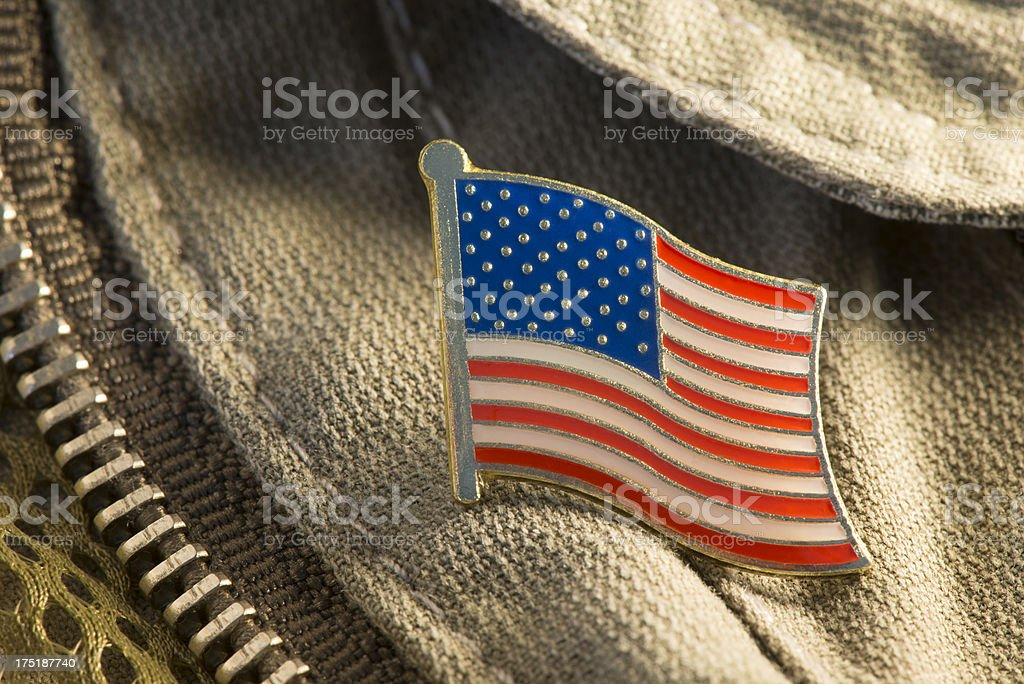 Flag label pin. royalty-free stock photo