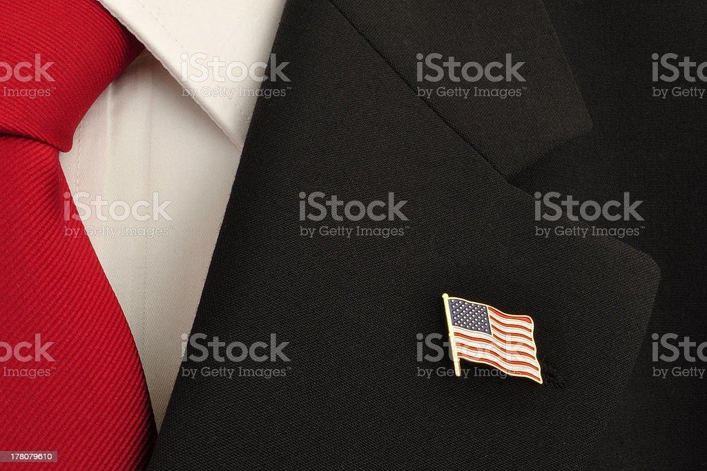U.S. Flag Lapel Pin stock photo