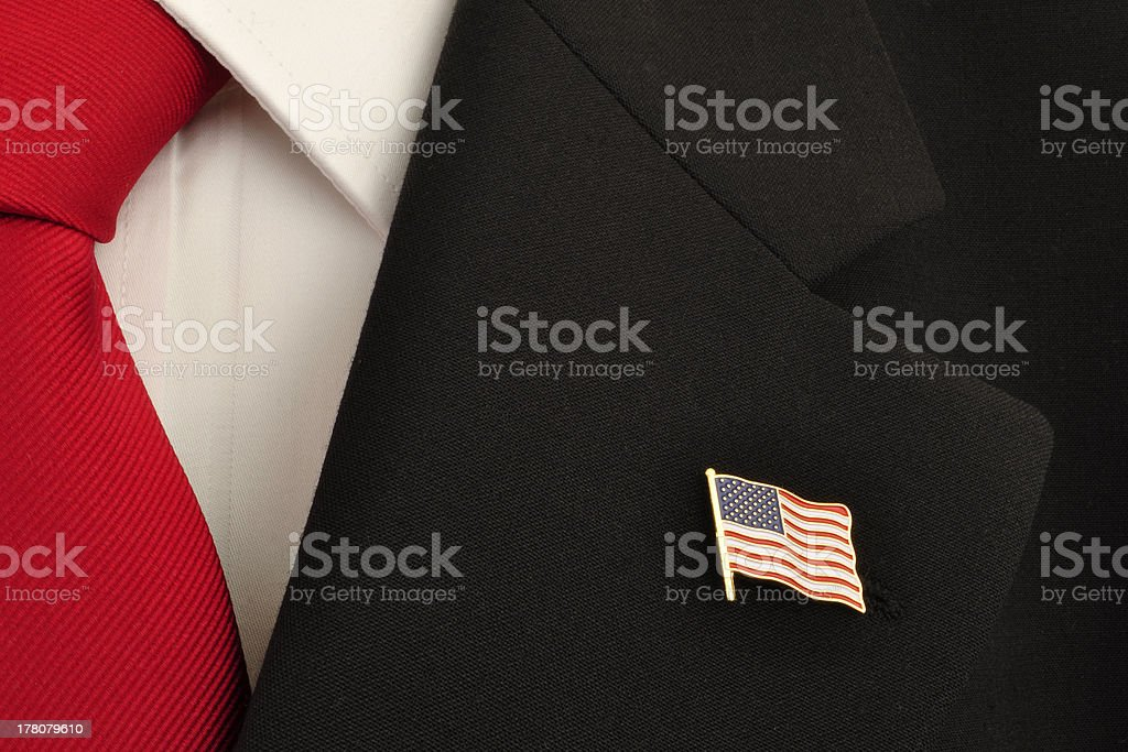 U.S. Flag Lapel Pin stock photo