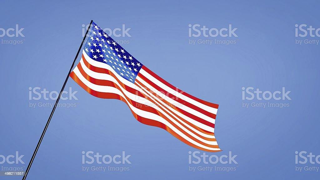 USA flag low angle royalty-free stock photo