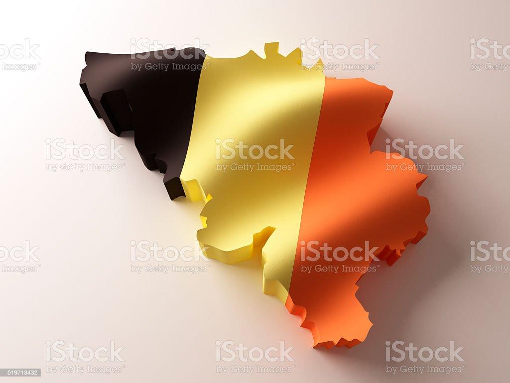 Flag map of Belgium stock photo