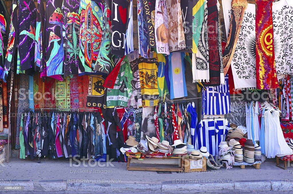 Flag Market - Greece royalty-free stock photo