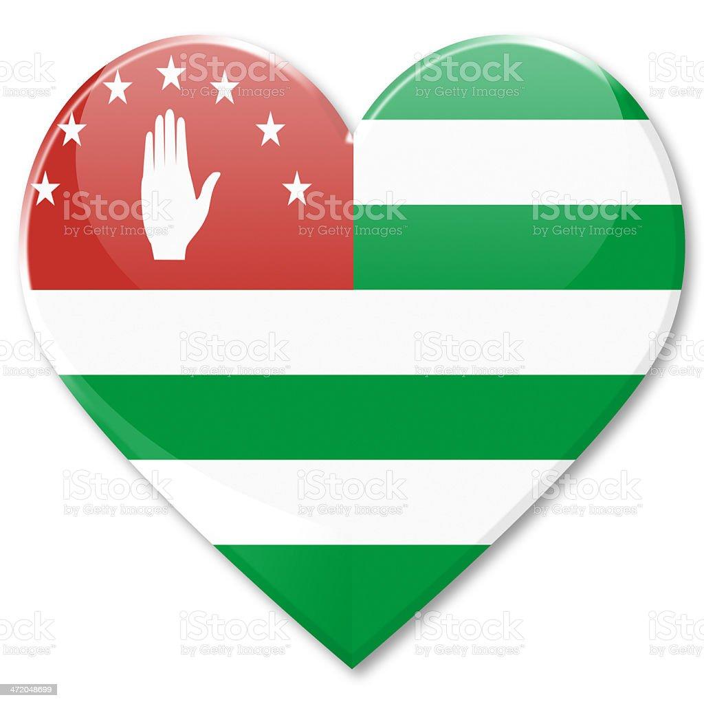 Flag of Abkhazia, heart  icon royalty-free stock photo