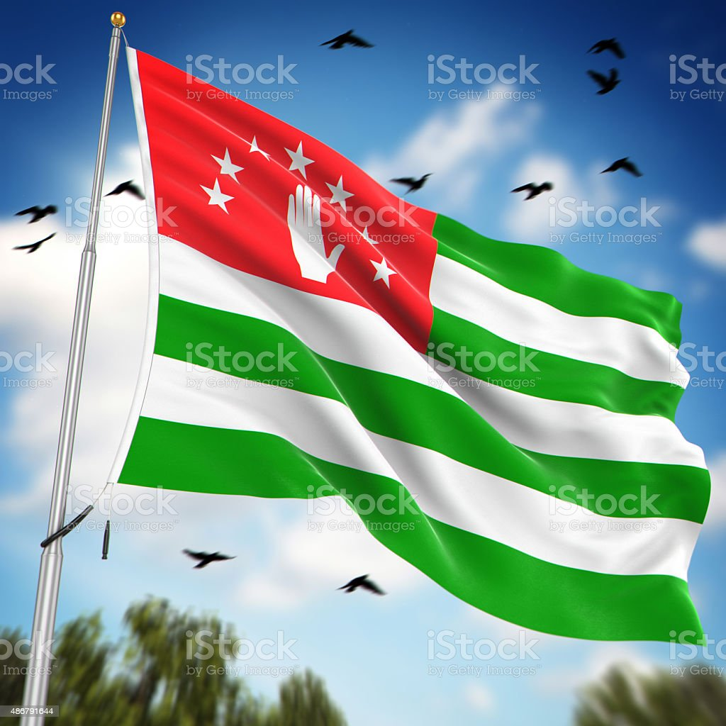 Flag of Abkhazia stock photo