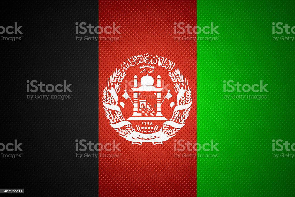 flag of Afghanistan stock photo