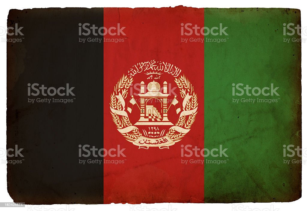 Flag of Afghanistan - XXXL stock photo