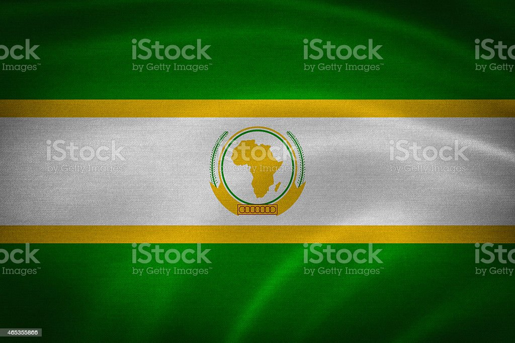 Flag Of African Union stock photo