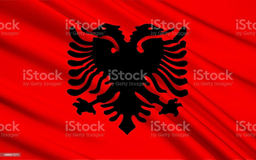 Flag of Albania - Eastern Europe stock photo