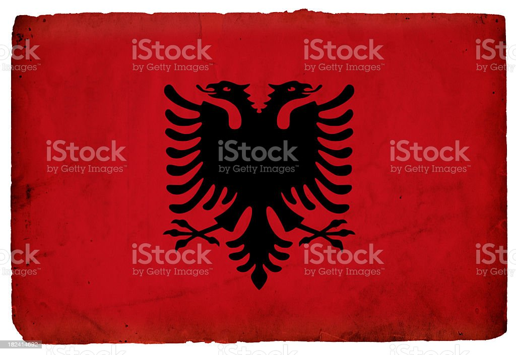 Flag of Albania - XXXL royalty-free stock photo
